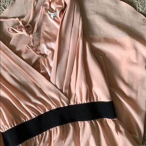Blush V Neck High/Low Dress